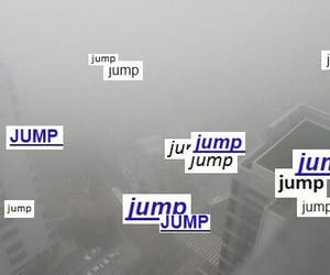 jump, grunge, and pale image