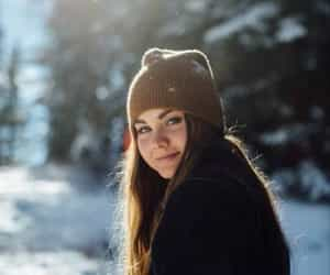 liana liberato, girl, and snow image