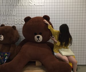 girl, korean, and teddy image