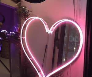 glow, heart, and pink image