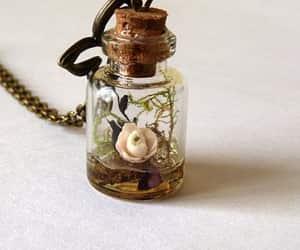 etsy, glass, and locket image