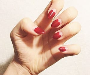 lolita, nails, and red image