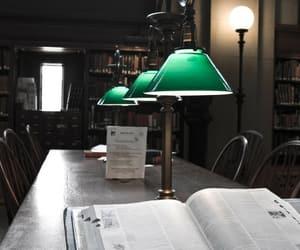 interior design, library, and readinv image