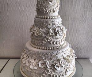 cakes, decoration, and wedding cakes image