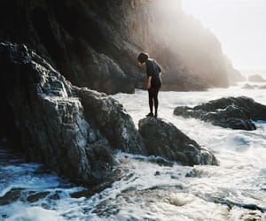 rock, travel, and alone image
