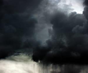 clouds, sky, and rain image