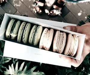 food, green, and macaroons image