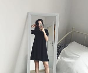 black dress, fit, and girl image