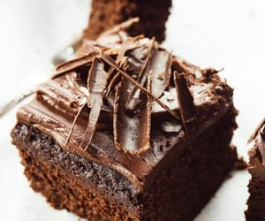 brownies, chocolate, and cake image