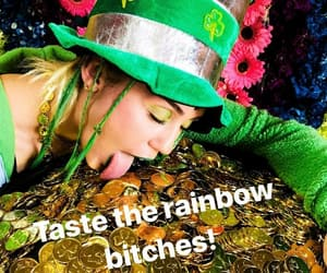 miley cyrus and st patrick's day image