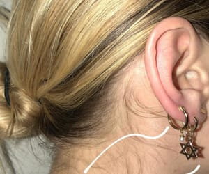 earrings, jewelry, and gold image
