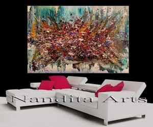 Abstract Painting, etsy, and modern painting image
