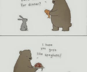 bear, animal, and comic image