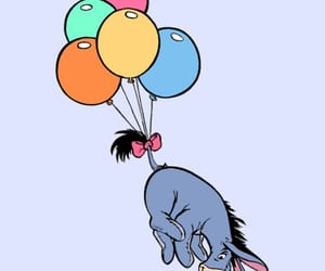 balloons, disney, and eeyore image