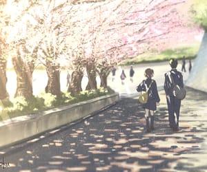 cherry blossom, manga, and spring image