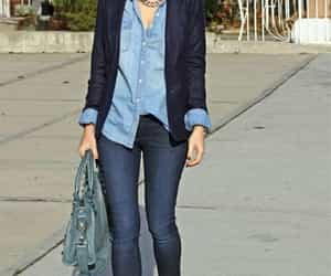 blazer, formal, and jeans image