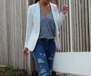 blazer, jeans, and formal image