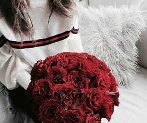 girl, red, and fashion image