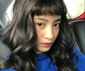 asian girl, bang, and brunette image