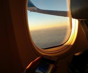holidays, plane, and sand image