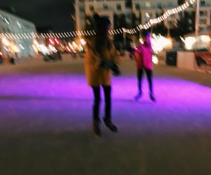 ice, ice skating, and friends image