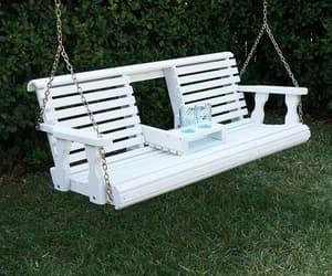 beautiful, garden, and swing image