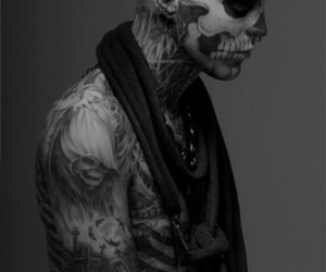 zombie boy, rick genest, and Tattoos image