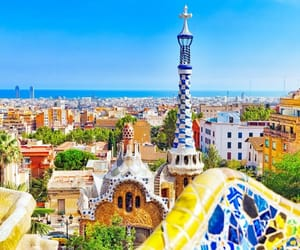 beautiful, Barcelona, and colors image