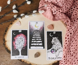 pink, spiritual, and tarot image