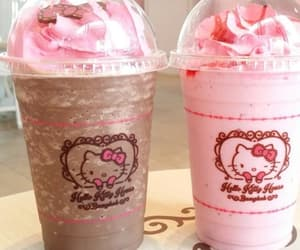 hello kitty, pink, and chocolate image