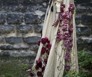dress, roses, and fantasy image