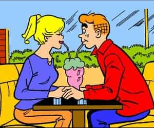 Archie, Betty, and milk shake image