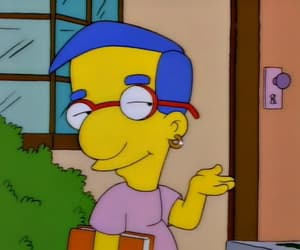 the simpsons, milhouse, and simpsons image
