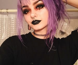 beauty, girl, and gothic image