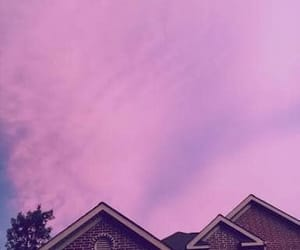 sky, house, and pink image