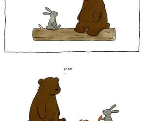 bear, bunny, and carrots image