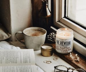 book, vintage, and candles image