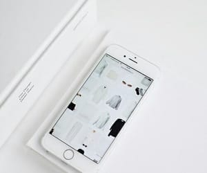 white, iphone, and phone image
