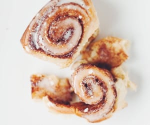 cinammon, food, and roll image