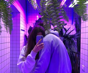 couple, love, and purple image