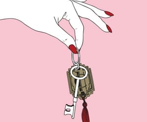 pink, key, and hands image