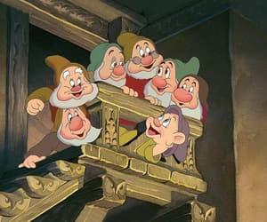 disney, seven dwarfs, and snow white image