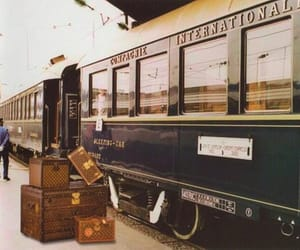 train, travel, and vintage image