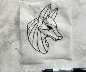 anubis, draw, and egyptian image