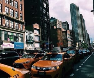 city, new york, and theme image