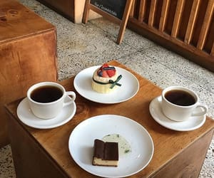 coffe, aesthetic food, and dessert image