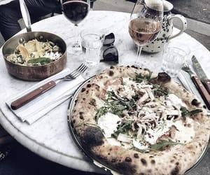 drinks, pizza, and fresh taste image