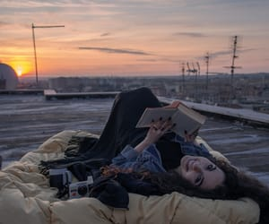 book, girl, and happiness image