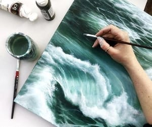 ocean, cute, and painting image