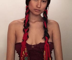 aesthetic, girl, and native image
